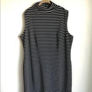 Ashley Stewart Dress Plus Size Black White Strpes